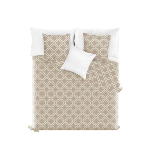 5f41bcac990a3f Beżowa Narzuta Pikowana 200x220 CLOVER - narzuty na łóżko 200x220 ...